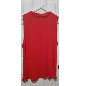Ann Taylor Loft XL dark orange sleeveless tunic